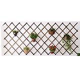 GAOYANG Blumenständer Aus Holz, Pflanzenstand, Wandtopf Pflanzenständer, Draußen Drinnen, Garten Jardinière, Balkonwandbehang Dekoration Sukkulentenunterstützung, (6 Größen)