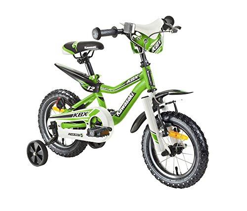 Kawasaki Kinderfahrrad Juniso 12 Zoll KBX grün, Rücktrittbremse