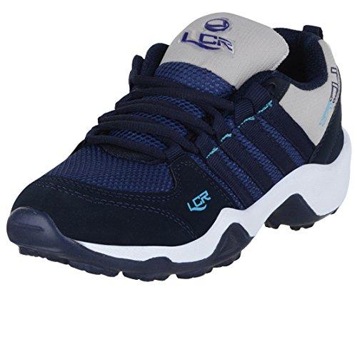 Lancer Kid's Mesh Running Shoes (Navy Grey, 5)