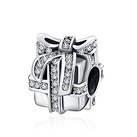 Hmilydyk Argent sterling 925Cristal Swarovski Elements Amant Cadeau Charm Perles Pandora Charms Bracelets