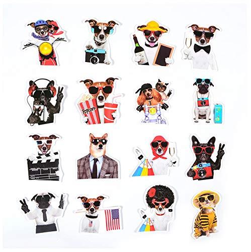 YLGG Coole Katze Hund mit Sonnenbrille Aufkleber Anzug Katze Gentleman niedlichen Hund Tier Aufkleber Spielzeug für Kinder DIY Laptop Gepäck Geschenke 38 Stück