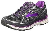 Brooks Damen Adrenaline Gts 17 Gymnastikschuhe, Grau (Metallic Charcoal/Black/Purple Cactus Flower), 42 EU