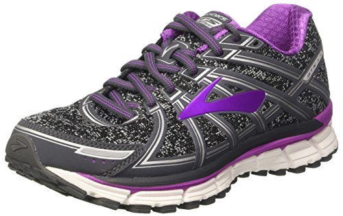 Brooks Damen Adrenaline GTS 17 Gymnastikschuhe, Grau (Metallic Charcoal/Black/Purple Cactus Flower), 38 EU