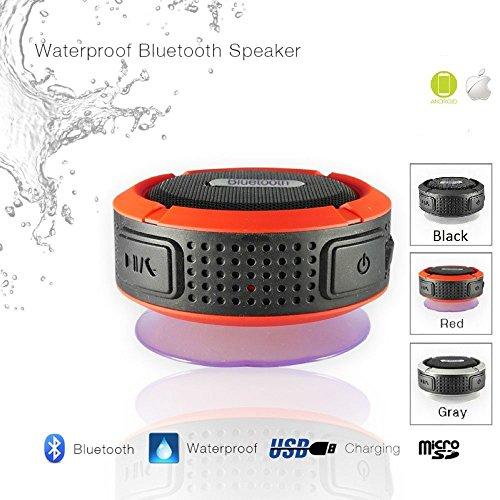 Preisvergleich Produktbild Wireless Bluetooth 3.0 Lautsprecher - Wasserdichte Outdoor-Dusche-Lautsprecher, mit 5W Bad Lautsprecher / Saugnapf / Mic / Freisprecheinrichtung - Schwarz