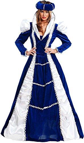 Chiber - Damen-Kostüm Mittelalter Burgfräulein Prinzessin Edle (M - Medium) (Kaiserin Der Prinzessin Kostüme)