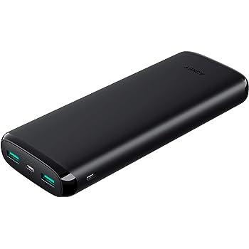 AUKEY Batterie Externe 20000mAh, Power Bank 2 Ports Entrée, Batterie Portable pour Phone X/ 8/ Plus/ 7/ 6s, Téléphone Portable, Tablette etc.