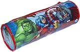 MARVEL® Avengers Official Kids Children School Zip Plastic Tube Pencil Pen Case Holder