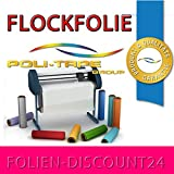 (EUR 25,80 / Quadratmeter) FLOCKFOLIE TbT 250 MAGENTA BÜGELFOLIE TOP ! Preistip Flex Flock 1 M x 50 cm POLITAPE