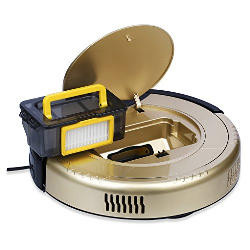 Haier T321 Pathfinder Robotic Vacuum Cleaner Automatic Intelligent House cleaning Machine ,Powerful Suction Self-Charging Updated TAC Anti-Collision Magic Wall , Designed for Bedroom Kitchen Housing Cleaning – Gold