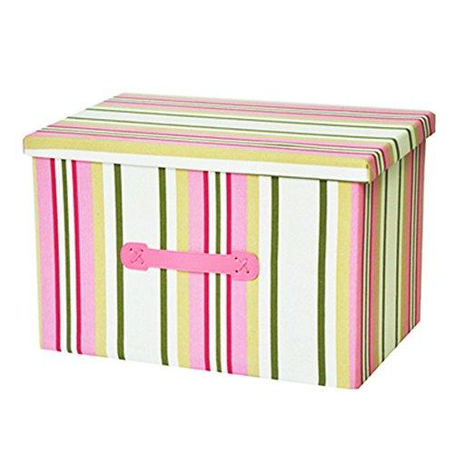 Faltbare Haushalts-Speicher-Box Lidded Korb Speicherorganisator , Rosa
