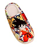 Bromeo Dragon Ball Anime Super Suave Zapatillas de estar por casa Felpa Zapatos