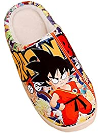 Bromeo Dragon Ball Anime Super Suave Zapatillas de estar por casa Felpa Zapatos