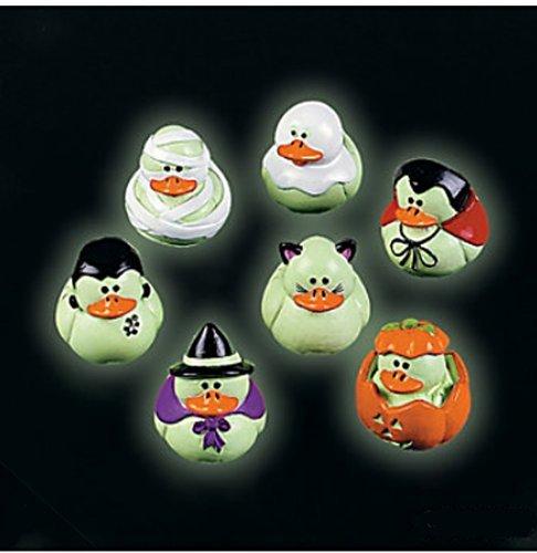 Glow-in-the-dark Halloween Rubber Ducks Duckie Ducky ()