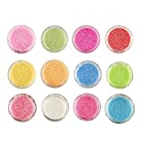 #5: Foolzy 12 Colors Nail Art Make Up Glitter Shimmer Dust Powder Decoration