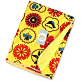 Baby Bucket Double Layer Velvet Fleece Newborn Printed Baby Blanket (VEL FLOWERS KOLACO)