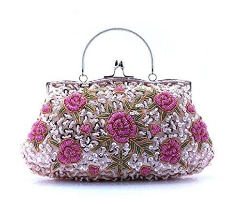 Perlen Hobo Bag (Pailletten Dinner Folk Style Clutch Bag Hand-Perlen-Tasche-B)