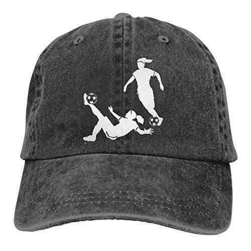 cvbnch Cowboy-Hut Sonnenkappen Sport Hut Girl Soccer Silhouettes Men's Women's Adjustable Baseball Hat Yarn-Dyed Denim Trucker Hat Sports Cool Youth Golf Ball Unisex Hiking Cowboy hat hip hop
