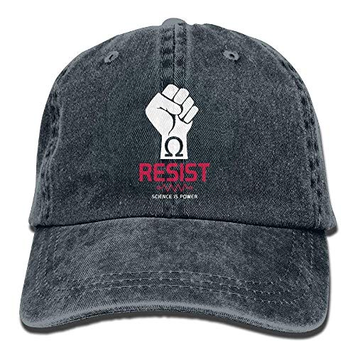 Resist Science is Power Mens&Womens Vintage Style Comfortable Outdoor Cap Baseball Cap (Cap Blue Newsboy Power)