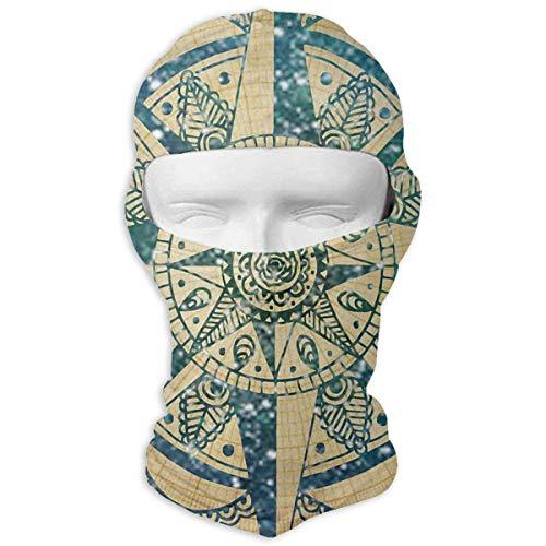 Zcfhike Kompass-Mandala-Winter, der volle Gesichtsmaske winddichtes...