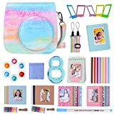 Goocor 15 in 1 Instax Mini 9 Camera Accessories Set for Fujifilm Instax Mini 9/ Mini 8/ Mini 8+ Camera, Includes Mini 9 Case,Albums,Six Color Filters,Rainbow Shoulder Strap,Pen ETC (Color de Aceite)