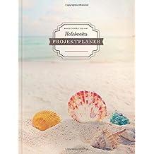 DÉKOKIND Projekt Planer   DIN A4, 100+ Seiten, Register, Kontakte, Vintage Softcover   Für über 50 Projekte geeignet  Motiv: Beach Dreams