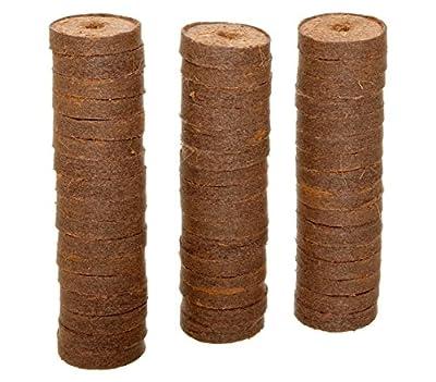 Dehner Kokos-Quelltabletten mit Nährstoff-Mix, zur Anzucht von Stecklingen, Sämlingen und Saaten, Ø 38 mm, 50 Stück von Dehner auf Du und dein Garten