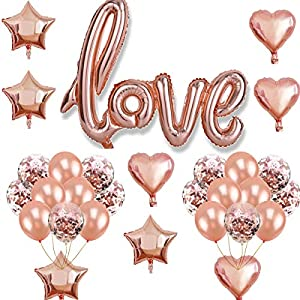 Oumezon Love Globos Oro Rosa