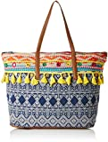 #6: Kanvas Katha Jacquard Stylish Tote Bag Collection for Women Women's (Multicolor) ()