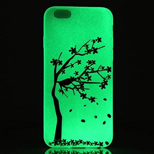 Cover iPhone 5S,Cover iPhone SE,Cover iPhone 5,Custodia iPhone SE / iPhone 5S 5 Cover Case,ikasus® Crystal Traslucido TPU luminoso nottilucenti con Colorato dipinta Motivo del fiore per iPhone SE / iP albero Fiore di pesco
