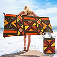 popluck African Style No, Sahara Desert Microfiber Quick Dry Super Soft Ultra Light Travel Portable Towel for Travel Beach Camping Gym Swimming Sporting