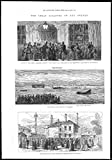 1878 - London Scenes of Princess Alice River Thames Disaster Woolwich Pier (089)