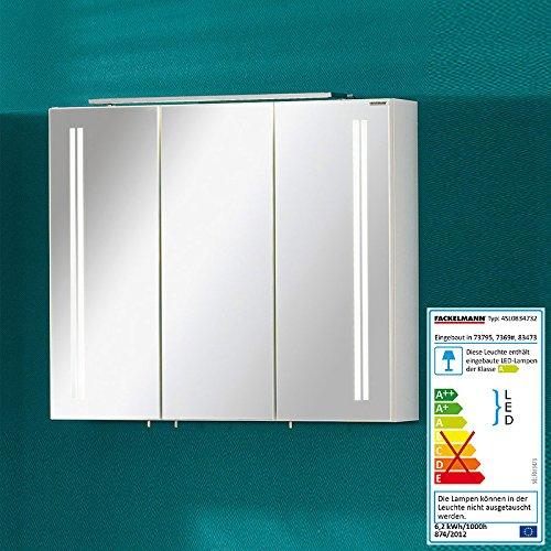 Badmöbel LED Spiegelschrank MONTIERT Badspiegel Badezimmerspiegel Badezimmer