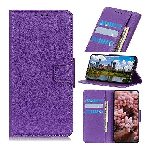 Cozy Hut Huawei P20 Leder Hülle Lila, [Kartensteckplätze] [Stand Feature] [Magnetic Closure Snap] PU Leder Flip Wallet Case Cover Kompatibel für Huawei P20 - Lila Lila Cover Case Snap