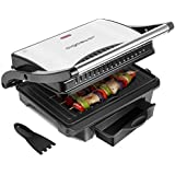 Aigostar Hett 30HHJ - Parrilla, grill, 1000 W, sandwichera y máquina de panini