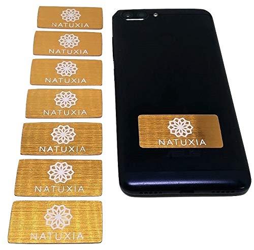 Natuxia Strahlenschutz Handy Aufkleber, Strahlung Abschirmung, Elektrosmog Neutralisierer für WLAN, Laptop, Handy (8 Pack) -