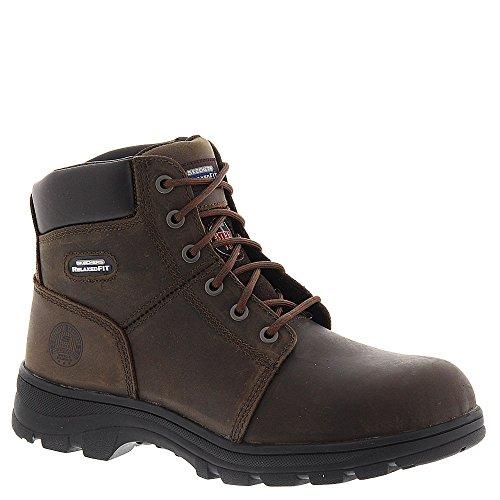 Skechers Work Workshire 77009 Men's Boot 10.5 D(M) US Dark Brown