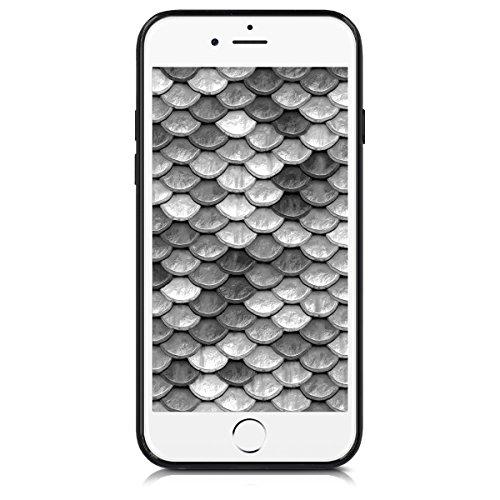 kwmobile Hülle für Apple iPhone 6 / 6S - Hybridhülle Dual Case Handy Schutzhülle TPU Silikon - Hybrid Cover Hybrid Metallic Design Metallic Rosegold Schwarz Hybrid Muster Silber Schwarz