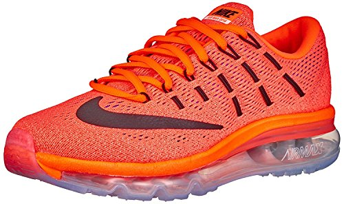 Nike Airmax 2016 Bright Crimson Orange Running Shoes for Womens  available at amazon for Rs.4995