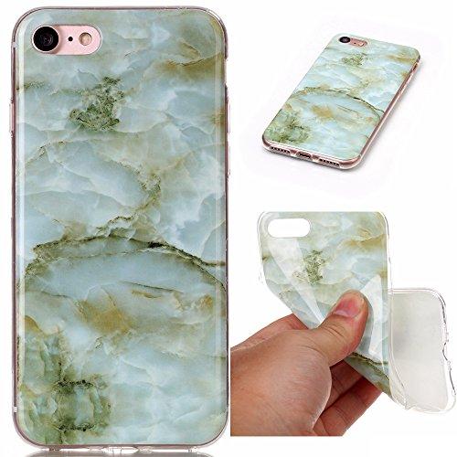 iPhone SE Plus Hülle,iPhone 5s Hülle,Mo-Beauty® Blau Marmor Serie Flexible TPU Silikon Schutz Handy Hülle Handytasche HandyHülle Etui Schale Case Cover Tasche Schutzhülle für iPhone 5/5S/SE + 1 x Disp Grüne