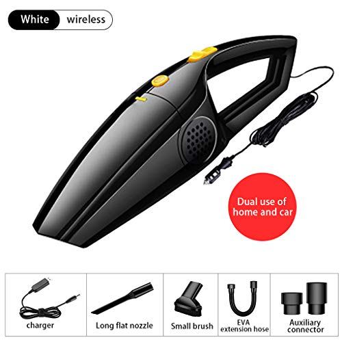 ToDIDAF Wireless Car Vacuum Cleaner, Hand-held Strong Suction Household Dual-use Mini Cleaning Machine, Suitable for Wet and Dry Use, Good Gift for Father's Day/Family/Friend (Black) -