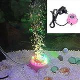 Hjuns® 1W 12 LED Lampe aquarium réservoir de poisson Lampe sous-marin Rond multicolore éclairage d'aquarium