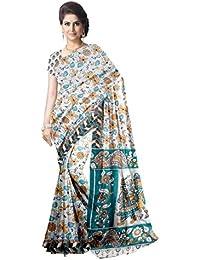 Javuli Women's Cotton Saree With Blouse Piece (Kalamkari-Saree-S171_Multicolor)