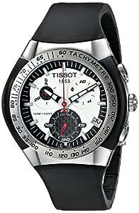 Tissot Hommes T0104171703100 T-Trax Chronograph Black Watch Bracelet Caoutchouc