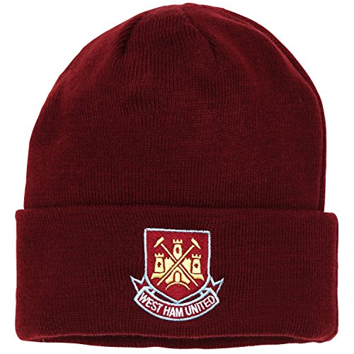 f8a4083b126 Official Football Merchandise Adult West Ham FC Core Winter Beanie Hat (One  Size) (Burgundy)