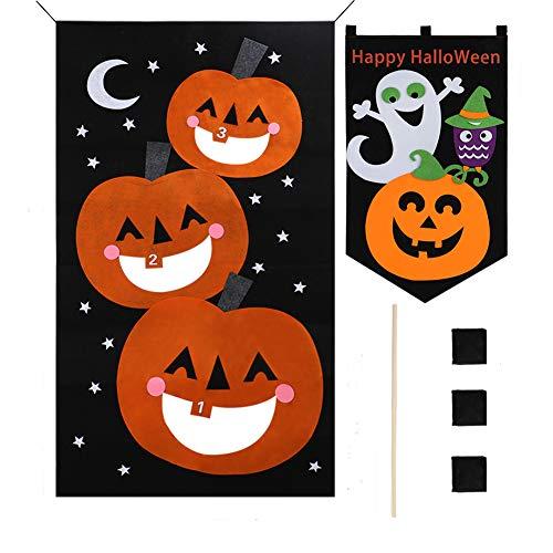 (VAMEI Halloween Deko Kürbis Sitzsack Toss Spiel Kinder Party Spiele Hängen Dekorationen Sport Spielzeug für Indoor Outdoor Spielen)