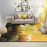 Exquisite Muster europäischen und amerikanischen Stil Mode Wohnzimmer rutschfeste Teppich moderne minimalistischen Teppiche Schlafzimmer Nachttisch Nordeuropa Sofa Tee Tisch Pads ( größe : 160*230cm )