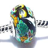 Charm Buddy Armband Fimo Acryl Grün für Pandora Troll Charm Armbänder