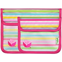 green sprouts Reusable Snack Bag (6 to 48 Months, Pink, Pack of 2)