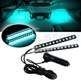 #7: SBE High Quality DIY Ice Blue 2X12 LED Car Interior Floor Decor Atmosphere Light