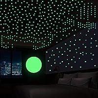 DreamKraft Vinyl Glow In The Dark Wall Stickers 9.44 x 11.81 x 0.39 inches, Green